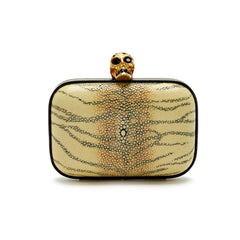 Alexander McQueen Skull Stingray Clutch Small