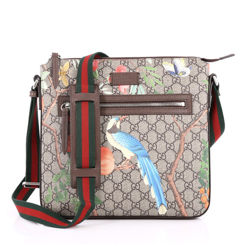 12bb538857fac9 Buy Gucci Front Zip Messenger Tian Print GG Coated Canvas 2641601 – Rebag