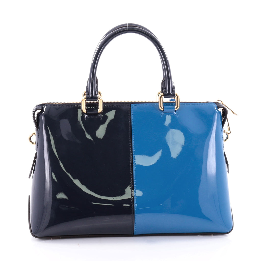 Buy louis vuitton miroir tote patent blue 2642404 trendlee for Louis vuitton miroir bags