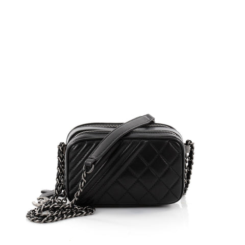 ccc1014a2cb7 Buy Chanel Coco Boy Camera Bag Quilted Leather Mini Black 2642602 – Rebag