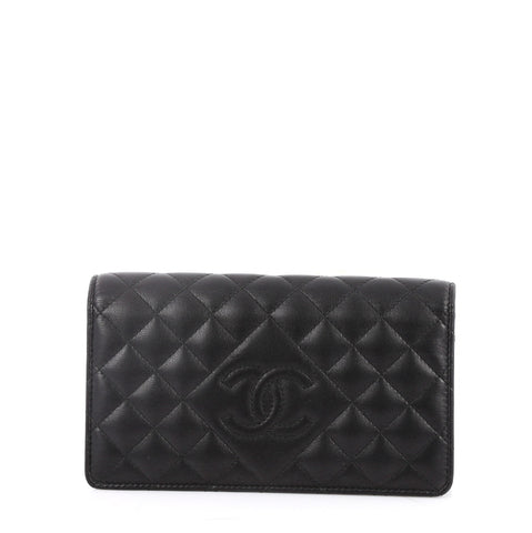 cc4fa208b0b0 Buy Chanel Diamond CC Bilfold Wallet Quilted Lambskin Long 2643004 – Rebag