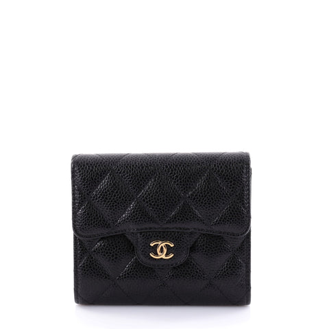 eafc42214c91 Buy Chanel CC Compact Classic Flap Wallet Quilted Caviar 2643401 – Rebag