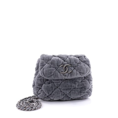 f3290a78bc95 Buy Chanel Bubble Shoulder Bag Quilted Velvet Small Gray 2644701 – Rebag