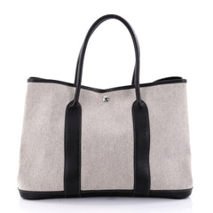 Hermes Garden Party Tote Toile and Leather 36 Black 2645003