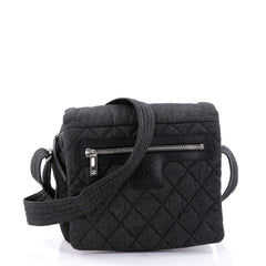 Chanel Coco Cocoon Messenger Bag Quilted Denim Medium 2645202