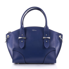 Alexander McQueen Legend Convertible Satchel Leather Small Blue 2646501