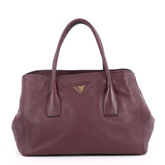 Prada Convertible Shopping Tote Vitello Daino Large Purple 2647402