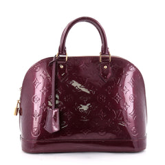 Louis Vuitton Alma Handbag Monogram Vernis PM Purple 2649602