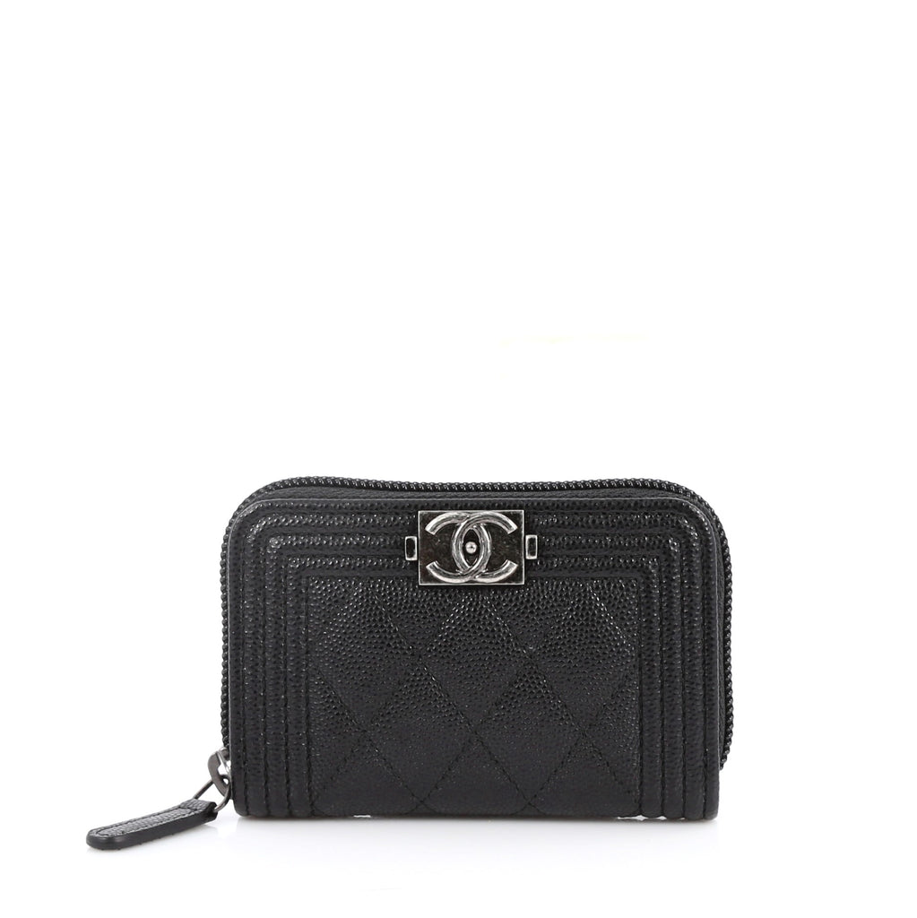 762c46e08a14 Buy Chanel Boy Coin Purse Quilted Caviar Small Black 2650701 – Rebag