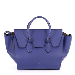 Celine Tie Knot Tote Smooth Leather Small Blue 2654601