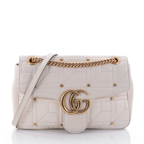 5fcda72e2269 Buy Gucci GG Marmont Flap Bag Studded Matelasse Leather 2658901 – Rebag