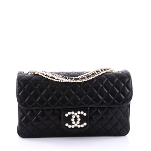 94f0b0320e212b Buy Chanel Westminster Pearl Chain Flap Bag Quilted Lambskin 2659702 – Rebag