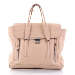 3.1 Phillip Lim Pashli Satchel Leather Large Neutral 2663501