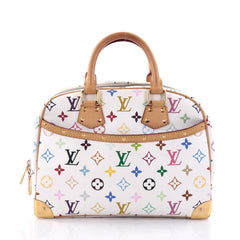 Louis Vuitton Trouville Handbag Monogram Multicolor White 2664502