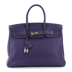 Hermes Birkin Handbag Purple Togo with Palladium 2665003