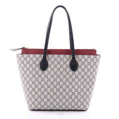 Gucci Linea A Zip Tote GG Coated Canvas Medium Gray 2665804