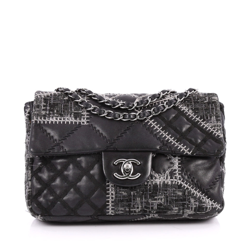 6ed8b197a90 Buy Chanel Classic Single Flap Bag Patchwork Tweed and 2666001 – Rebag