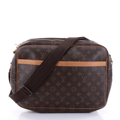 Louis Vuitton Reporter Bag Monogram Canvas GM Brown 2666805