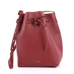 Mansur Gavriel Bucket Bag Leather Large Red 2670501