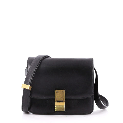 Buy Celine Box Bag Smooth Leather Small Black 2675701 – Rebag bd3e477d7f