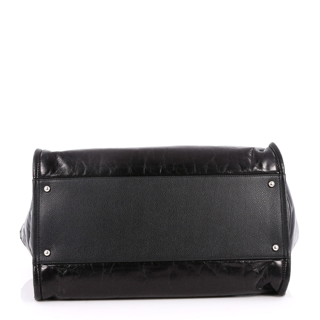 2dc4634e55ab Buy Chanel Deauville Chain Tote Glazed Calfskin Large Black 2676701 ...