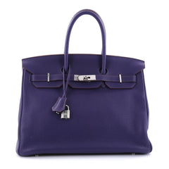 Hermes Birkin Handbag Purple Clemence with Palladium 2680602