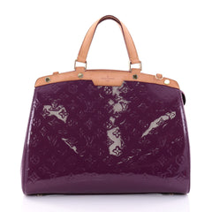Louis Vuitton Brea Handbag Monogram Vernis GM Purple 2682303