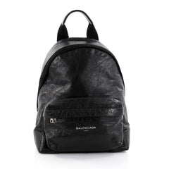 Balenciaga Navy Backpack Leather Black 2685703