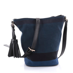 Burberry Ashby Handbag House Check Canvas Mini Blue 2686803