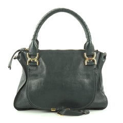 Chloe Marcie Satchel Leather Medium Green 2687701