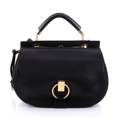 Chloe Goldie Shoulder Bag Leather Medium Black 2689501
