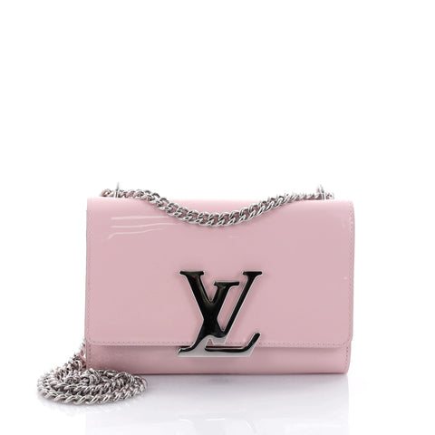 73b58f963bfb Buy Louis Vuitton Chain Louise Clutch Patent MM Pink 2689602 – Rebag