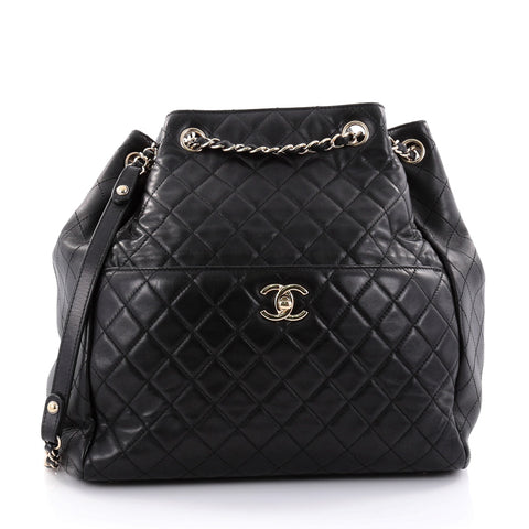 57be8a7667e5 Buy Chanel Drawstring CC Lock Bucket Bag Quilted Lambskin 2690501 – Rebag
