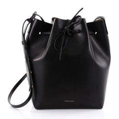 Mansur Gavriel Bucket Bag Leather Large Black 2692302