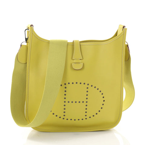 4be547010dc Buy Hermes Evelyne Crossbody Gen III Epsom PM Yellow 2694501 – Rebag