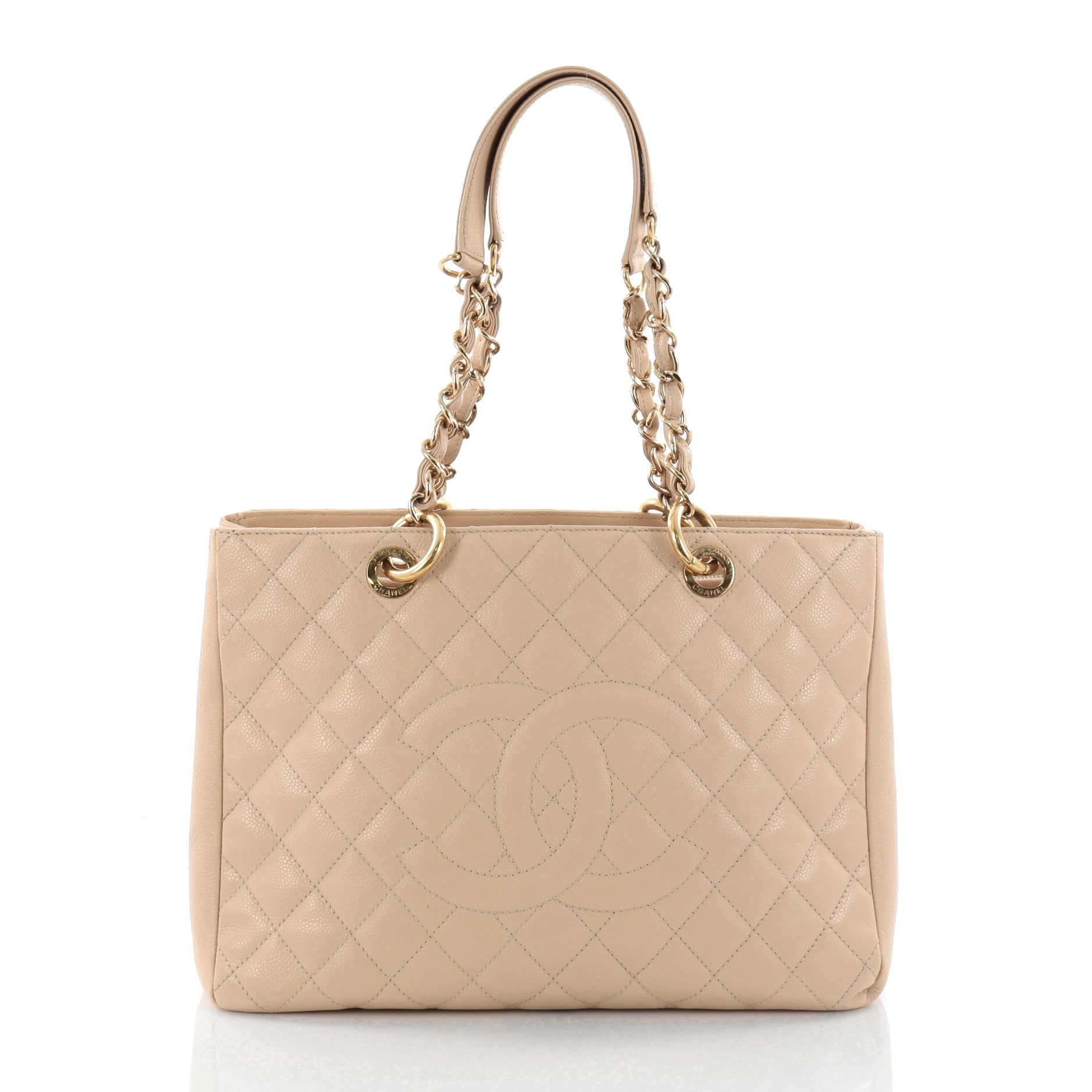 Grand Shopping Tote Quilted Caviar
