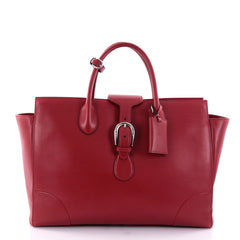 Gucci Carry On Buckle Tote Leather Large Red 2700203