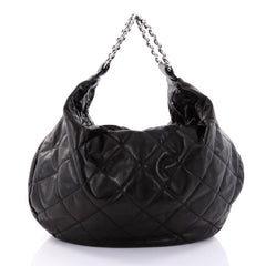 Chanel Vintage Chain Ring Handle Hobo Quilted Leather 2702905