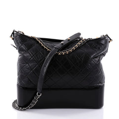 Chanel Gabrielle Hobo Quilted Aged Calfskin Large Black 2704703