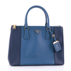 Prada Bicolor Double Zip Lux Tote Saffiano Leather 2704815