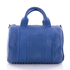 Alexander Wang Rocco Satchel Leather Blue 2707801