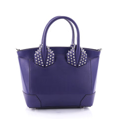 Christian Louboutin Eloise Satchel Spiked Leather Small Purple 2708101