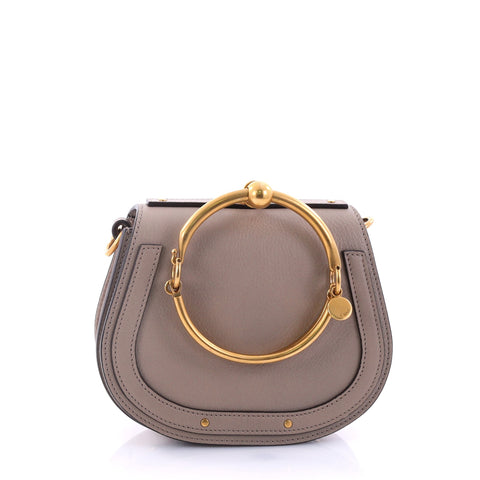 01d164041864 Buy Chloe Nile Crossbody Bag Leather Small Brown 2712602 – Rebag