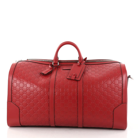44bc47345935 Buy Gucci Signature Convertible Duffle Bag Guccissima 2712901 – Rebag