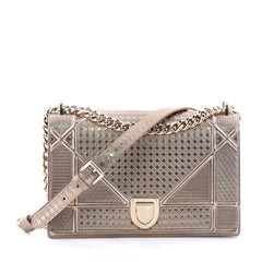 Christian Dior Diorama Flap Bag Cannage Embossed Calfskin Small Gold 2714001