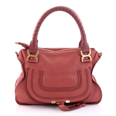 Chloe Marcie Satchel Leather Medium Red 2716801