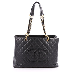 Chanel Grand Shopping Tote Quilted Caviar Black 2718601