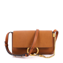 Chloe Faye Shoulder Bag Leather Small Brown 2719001