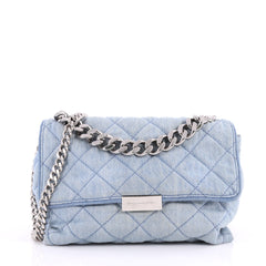 Stella McCartney Soft Beckett Shoulder Bag Quilted Denim 2723001