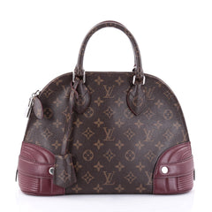Louis Vuitton Alma Handbag Monogram Shine Canvas PM Brown 2727502